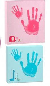 handprint art gifts from big sibling for a new baby
