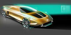 Mercedes C111 by Carbon Sketch Lab