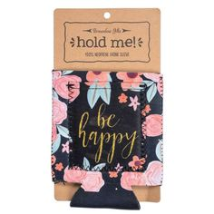 "Simple Inspirations neoprene drink sleeve will keep any bottle or can cold and hands warm. ""Be Happy"" sentiment makes for a practical and inspirational gift. Happy Drink, Inspirational Gifts, Hand Warmers, Drink Sleeves, Drinks, Simple, How To Make, Products, Drink"