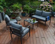 Άνετο, εύχρηστο και λειτουργικό σετ που αποτελείται από έναν διθέσιο καναπέ, δύο άνετες πολυθρόνες και χαμηλό τραπεζάκι μέσης. Ιδανικό και για επαγγελματική χρήση! #σαλόνι #κήπος #έπιπλακήπου #epiplakipou #kipos #saloni #epipla #βεράντα #μπαλκόνι #κηπος #σαλονι #επιπλα #καναπες #καναπές #τραπεζάκι #πολυθρόνες Outdoor Furniture Sets, Outdoor Decor, Home Decor, Interior Design, Home Interiors, Decoration Home, Interior Decorating, Home Improvement