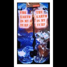 The Beast Earth is My Turf Custom Nike Elites by TheSickestSocks, $39.99