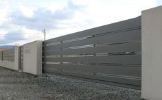 nowoczesna brama przesuwna aluminiowa horizon xcel