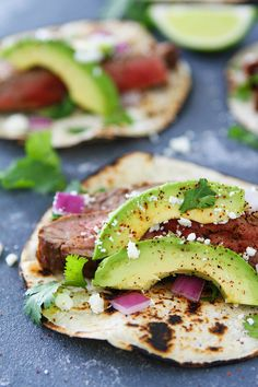 Easy Grilled Chili Lime Steak Tacos make a great quick and easy summer meal