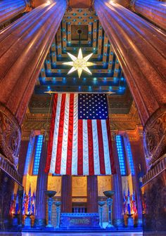 A beautiful picture of The Shrine Room inside the Indiana War Memorial in Indianapolis, IN
