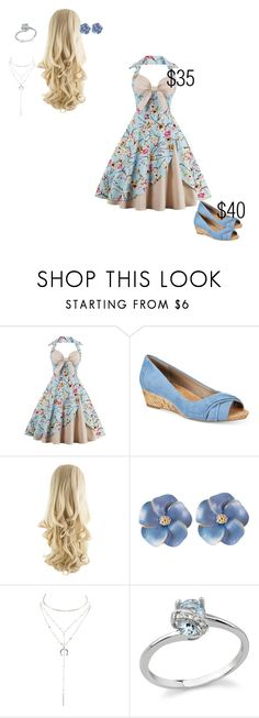 """simple cute vintage outfit"" by themightyboosh-fan on Polyvore featuring Giani Bernini, Charlotte Russe and vintage"