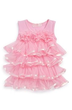 Free shipping and returns on Popatu Ruffle Tiered Dress (Baby Girls) at Nordstrom.com. Cascading tiers of satin-trimmed tulle lend bounce and body to a scrumptious tutu-inspired dress with pretty rosettes lining the bodice that your tiny dancer will love.