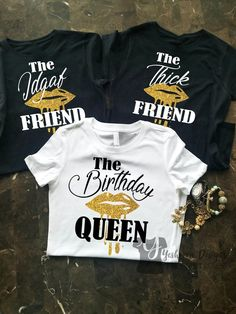 Birthday Group Shirts Birthday Party Shirts The Friend Birthday Shirts Birthday Shirt Women Dripping Lips Birthday Squad Birthday Queen - Birthday Shirts - Ideas of Birthday Shirts - Birthday Woman, 16th Birthday, Friend Birthday, Queen Birthday, Thirty Birthday, Pink Birthday, Card Birthday, Birthday Month, Birthday Quotes