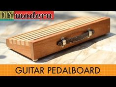 My New Do It Yourself Home Made Guitar Pedal Board DIY - YouTube