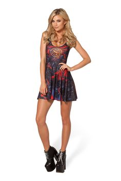 Team Targaryen Scoop Skater Dress by Black Milk Clothing $95AUD