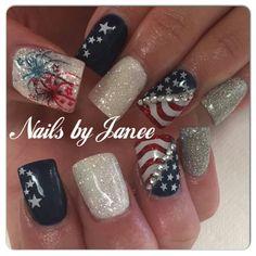 Patriotic nails ❤️