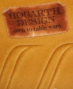 Not a Base mark but a Label from the Hogarth Design range which had the impressed Onions mark to the base.