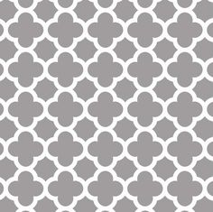 Fabric... Quatrefoil in Gray by Riley Blake Designs