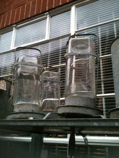 old jars AKA kitchen lamp shades @Looses