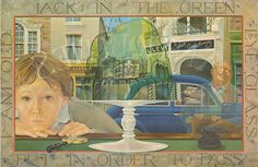 """Painting #10: Jack In The Green """"Masquerade"""" By Kit Williams, Published by Jonathan Cape Ltd, London 1979"""