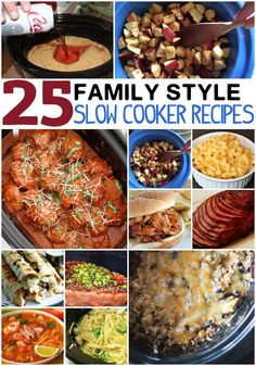 25 family style slow cooker recipes