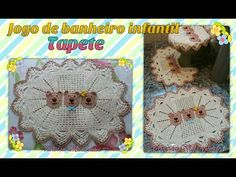 Jogo de banheiro Infantil Ursinho carinhoso em croche /Tapete 1/3 Por Vanessa Marcondes - YouTube