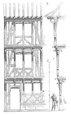 viollet the duke viollet the duke The post viollet the duke appeared first on Baustil. Wood Architecture, Architecture Drawings, Historical Architecture, Architecture Details, Medieval Houses, Medieval Town, Tudor House, Timber House, Building Plans