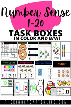 Are you wondering how to build number sense or how to improve number sense in your classroom? Grab this printable pdf of 16 number sense for kindergarten activities. These number sense math games are fun and engaging with colorful clipart and large text! They include teacher instructions, student instruction card, playing mats, pieces. recording sheets and answer keys. Everything you need to have successful number sense and counting activities! #tpt #number sense #kindergarten Number Sense Kindergarten, Kindergarten Math Activities, Counting Activities, Kindergarten Reading, Math Resources, Resource Room, Task Boxes, Recording Sheets, Common Core Math