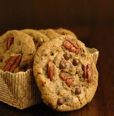 Espresso Chocolate Chip and Pecan Cookies