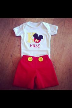 Lol...I need to find some plain red shorts for Levi for his party...this is just too funny.