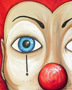 Clown Beautiful by David Junod Clown Paintings, Paintings For Sale, October Gallery, Joker Drawings, Send In The Clowns, Oil Pastel Art, Carnival Of Venice, Clowning Around, Abstract Oil