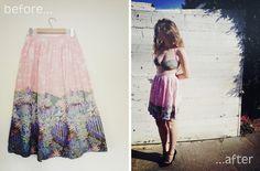 Stitch me Softly...: Vintage skirt refashion