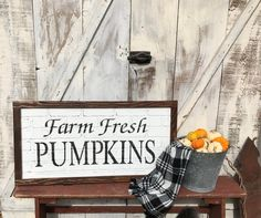 Your place to buy and sell all things handmade Faux Brick, Back Patio, Chalkboard Signs, Porch Decorating, Front Porch, Pumpkins, Fresh, Fall, Handmade