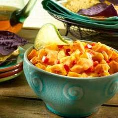 Creamy Spicy Mango Salsa Recipe with mango, ragu old world style tradit pasta sauc, hellmann' or best food light mayonnais, chili powder, red… Pool Party Snacks, Summer Snacks, Best Appetizers, Appetizer Recipes, Mango Salsa Recipes, Spicy Dishes, Mexican Food Recipes, Ethnic Recipes, Recipe Search