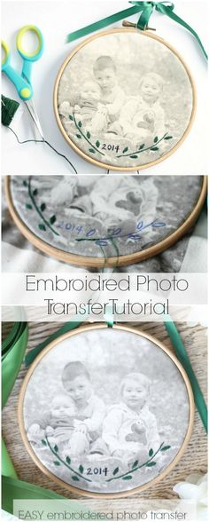 Photo Transfer Embroider a picture of those you love--it's easier than you think! Just 2 steps!Embroider a picture of those you love--it's easier than you think! Just 2 steps! Embroidery Hoop Crafts, Cross Stitch Embroidery, Embroidery Patterns, Simple Embroidery, Wedding Embroidery, Embroidery Thread, Embroidery Tattoo, Custom Embroidery, Machine Embroidery