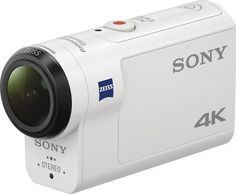 Sony - 4K Waterproof Action Camera with Remote - White