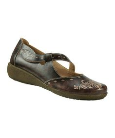 Take a look at this Brown Leather Juniper Mary Jane by Spring Step on #zulily today! I've always loved Mary Janes