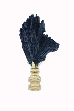 Lamp Finial, black vivianite // available at www.handcutdesign.com Chandelier, Ceiling Lights, Lighting, Home Decor, Black, Candelabra, Decoration Home, Light Fixtures, Room Decor
