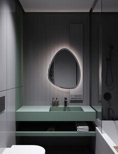 Home Interior Dark Modern Minimalist Apartment Designs Under 75 Square Meters Washroom Design, Toilet Design, Bathroom Interior Design, Bad Inspiration, Bathroom Inspiration, Modern Bathroom, Small Bathroom, Bathroom Ideas, Master Bathroom