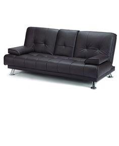comfortable leather futon