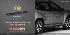 LAUNCHING the 'SIMPLE - STRONG & STYLISH' SIDE STEP - ABS for #Nissan_Terrano. Revamp your car's #style & #safety with Goldsun bumpers! Enquiry: +91 93444 49111 Forward the queries to : support@goldsun.in Visit www.goldsun.in for your car accessories. #car #accessory #new #compact_suv #goldsun #suv