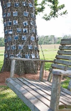 We definitely need a picture tree. The porch swing isn't a bad idea either.