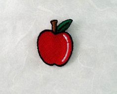Apple Iron on Patch Apple Applique by PoohmieCollection on Etsy
