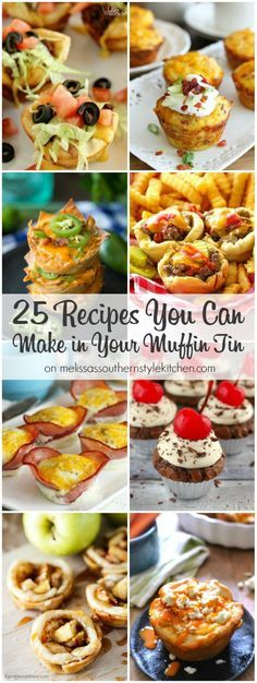 This collection of 25 Recipes You Can Make in Your Muffin Tin is a gold mine of opportunities to use muffin tins for more than baking muffins or cupcakes. Mini Muffin Pan, Muffin Tins, Muffin Tin Meals, Muffin Pan Recipes, Cupcake Pan Recipes, Baking Muffins, Mini Muffins, Breakfast Muffins, Omlet Muffins