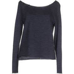 Only Sweatshirt (€27) ❤ liked on Polyvore featuring tops, hoodies, sweatshirts, dark blue, stripe top, wide neck sweatshirt, only sweatshirt, long sleeve tops and pocket sweatshirt