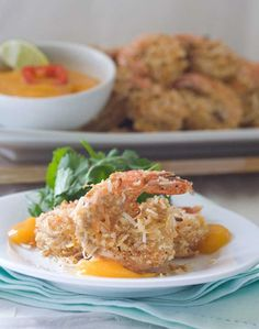 Gluten Free Coconut Shrimp this one looks great too http://www.grouprecipes.com/56900/alton-browns-coconut-shrimp-with-outback-dipping-sauce.html
