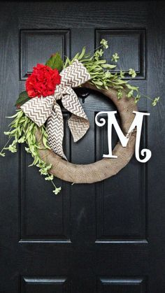 Modify for the Mugwort Wreath! Spring and Summer Burlap Wrapped Wreath Featuring Green Wildflowers, Orange Hydrangea and Chevron Burlap Bow Cute Crafts, Crafts To Make, Arts And Crafts, Diy Crafts, Chevron Burlap, Burlap Bows, Gray Chevron, Burlap Wreaths, Spring Projects