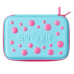 This is a Smiggle case that has Pink & Light Blue