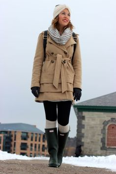 Polar vortex style #winter #outfit #hunterboots