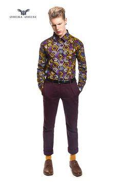 Men's African print shirt-Geox - OHEMA OHENE AFRICAN INSPIRED FASHION  - 3