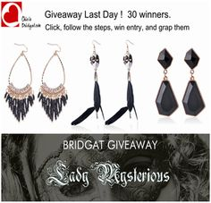 Hey guys! Bridgat giveaway last day. 30 winners. And the number of participants is still less than that. Big chance to win ! http://www.bridgat.com/giveaway  1. Log in with your facebook 2. Follow the steps to win entry. 3. With 1 entry, you will be on the candidate list.  More entries = bigger chance to win  4. Good luck! You are always welcome to win.