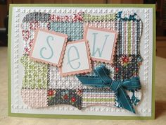 Catherine Loves Stamps: Notable Alphabet & Twitterpated Quilt Card