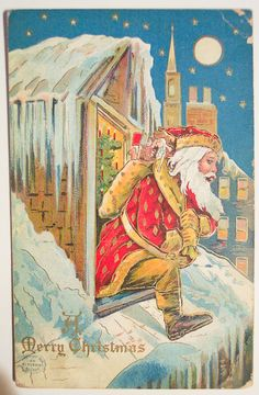 Vintage Stock Graphics - Christmas and Santa Post Cards - Free -Public Domain Images