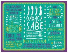 El festival Oaxaca Sabe se originó en septiembre del 2014 de forma independiente a partir de la inquietud de un grupo de restauranteros por mostrar las diferentes propuestas gastronómicas que exist...