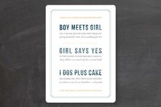 Boy Meets Girl Save the Date Cards by Bethany Anderson at minted.com