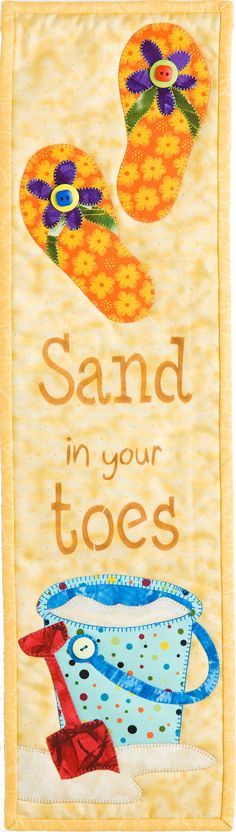 Sand in your Toes wall hanging quilt kit by PatchAbilitiesToo, $27.75